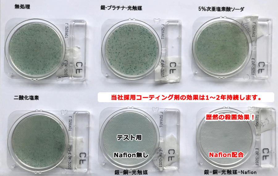 大腸菌殺菌消毒試験