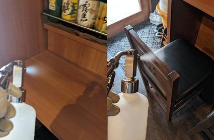テーブル・椅子の抗菌