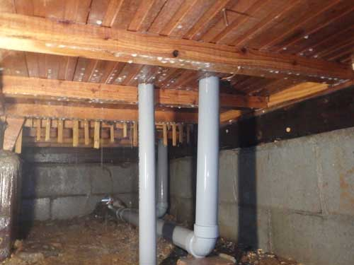 床下のシロアリ防除施工