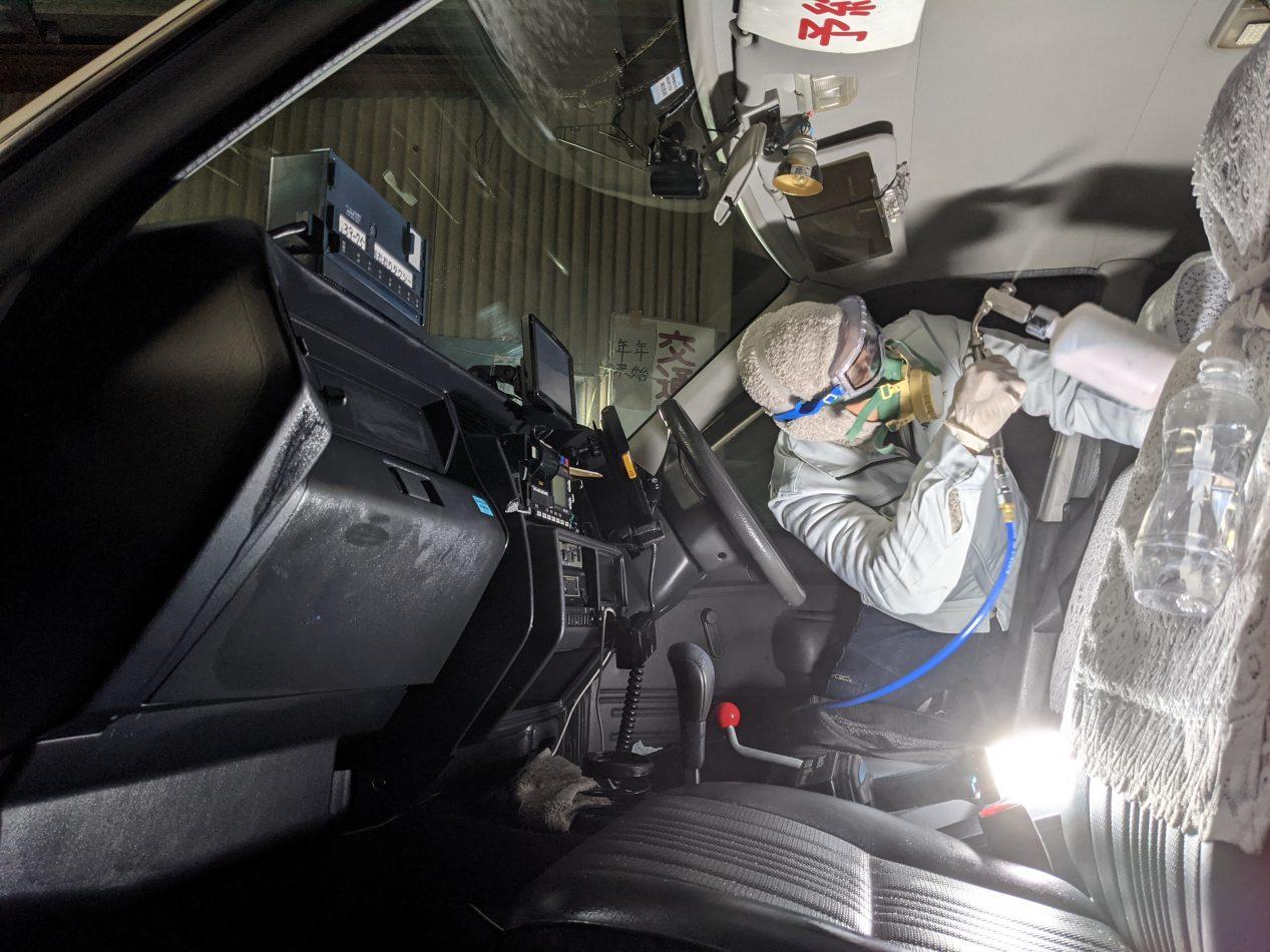 タクシー車内の抗菌抗ウイルス