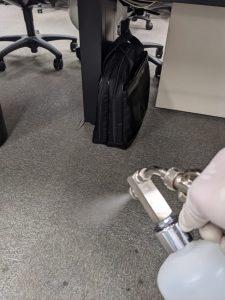 床への噴霧